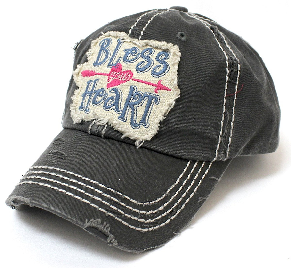 CAPS 'N VINTAGE Women's Bless Your Heart Vintage Embroidery Baseball Hat - Caps 'N Vintage