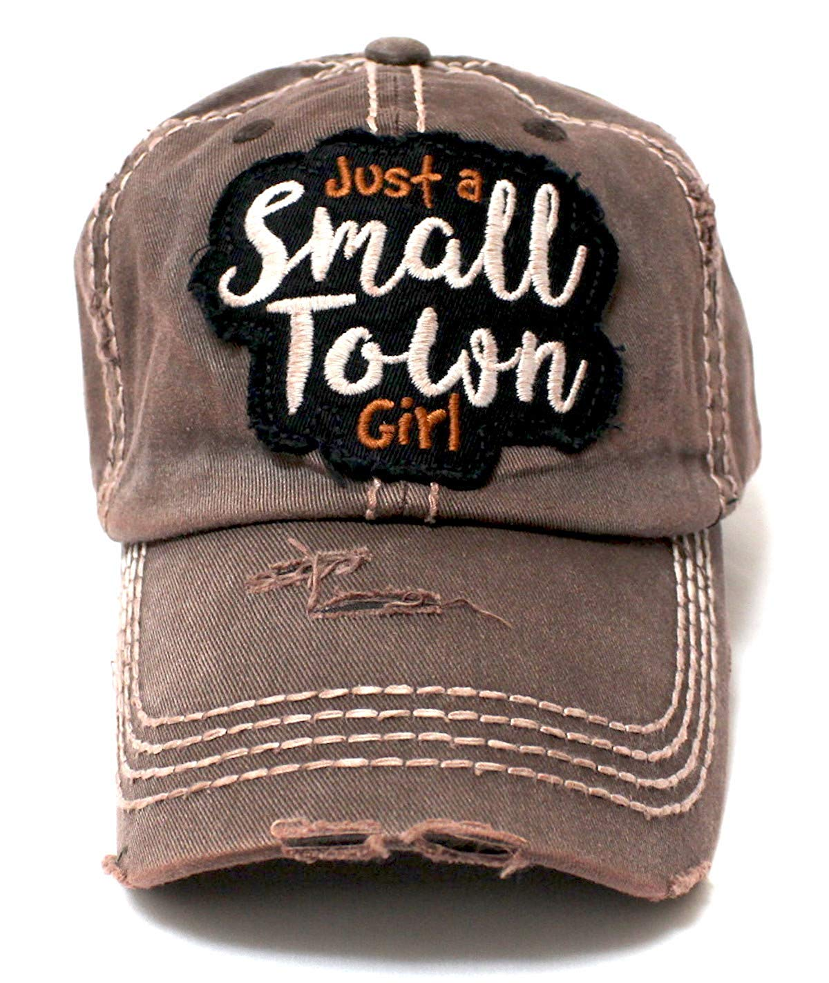 d00a0583966 Rustic Bronze Just a Small Town Girl Patch Embroidery Ballcap - Caps  N  Vintage