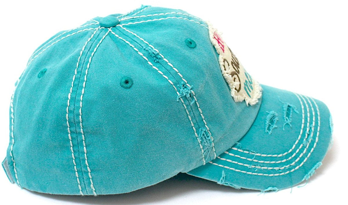Hot Southern Mess Patch Embroidery Distressed Baseball Hat - Caps 'N Vintage