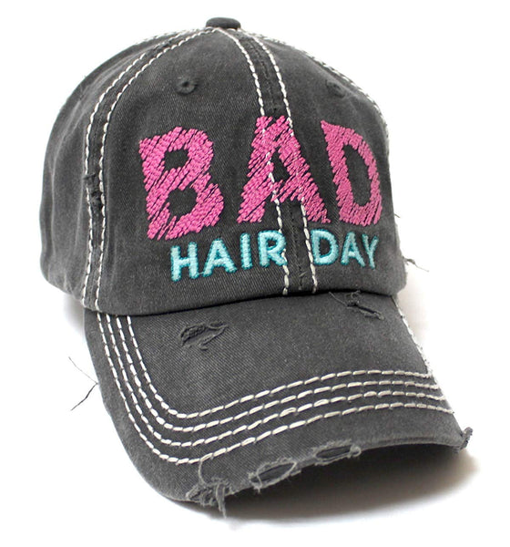 Bad Hair Day Vintage: CAPS 'N VINTAGE Bad Hair Day Stitch Embroidery Distressed