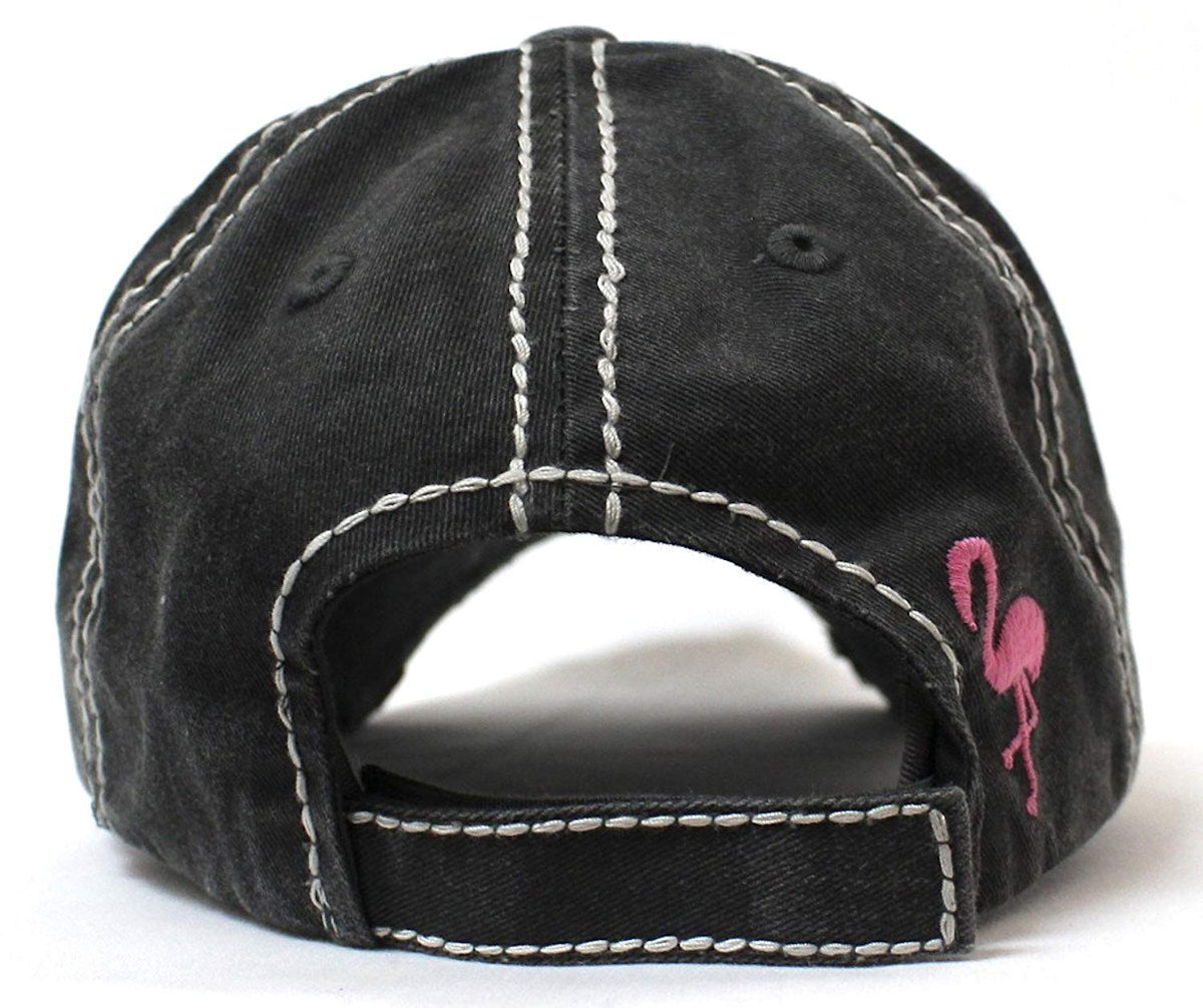 BLK I Don't Give a Flock Flamingo Patch Embroidery Hat - Caps 'N Vintage