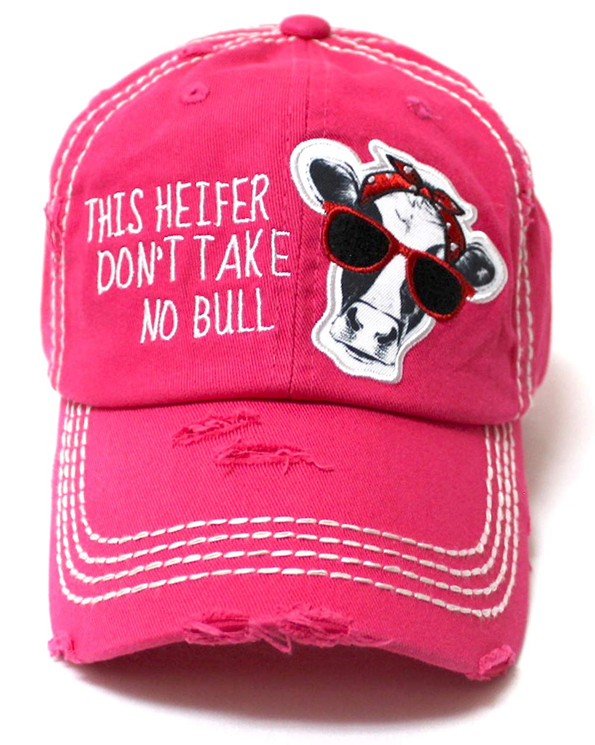 44be151fbc7 Country Humor Cap This Heifer Don t TAKE NO Bull Red Western Bandana Cow  Patch