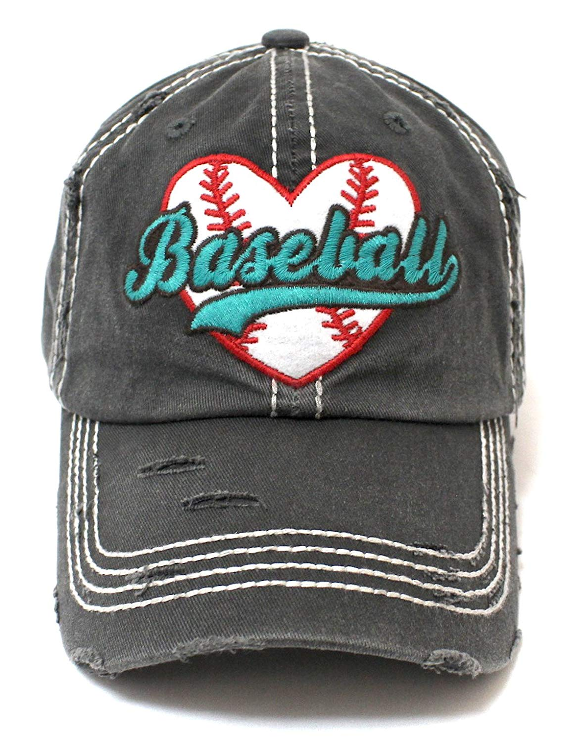 BLK Baseball Heart Patch Women's Hat - Caps 'N Vintage