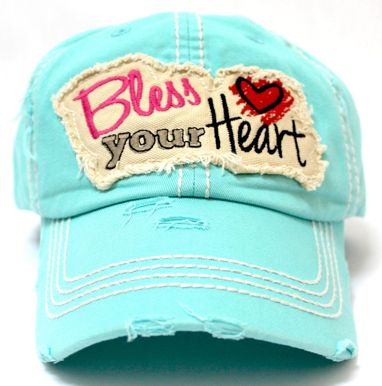 """Bless Your Heart"" Patch on NEW! MINT Vintage Hat w/ Back <3 Detail - Caps 'N Vintage"