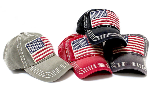Oversized Vintage AMERICAN FLAG Patch Embroidery Baseball Cap – Caps  N  Vintage 326933b56e6