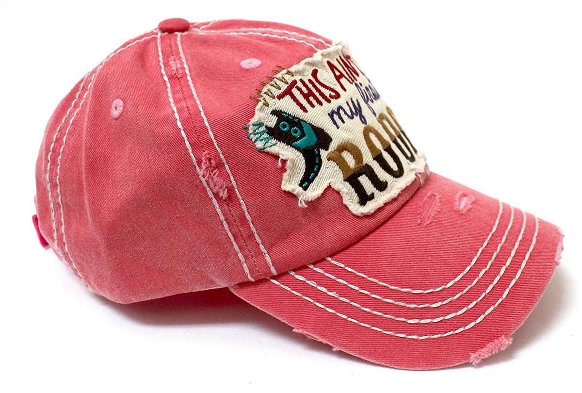 "PINK ""THIS AIN'T MY FIRST RODEO"" Patch Embroidery Women's Vintage Hat - Caps 'N Vintage"