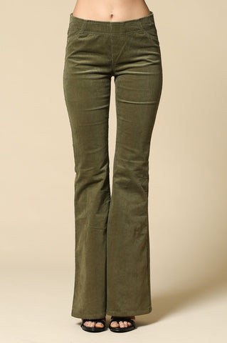 Olive Corduroy Bell Bottoms