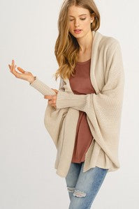 Shell Batwing Cocoon Cardigan