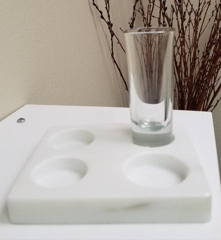 Medium  2 oz. Sanitizing Glass Fits Our Marble Tray