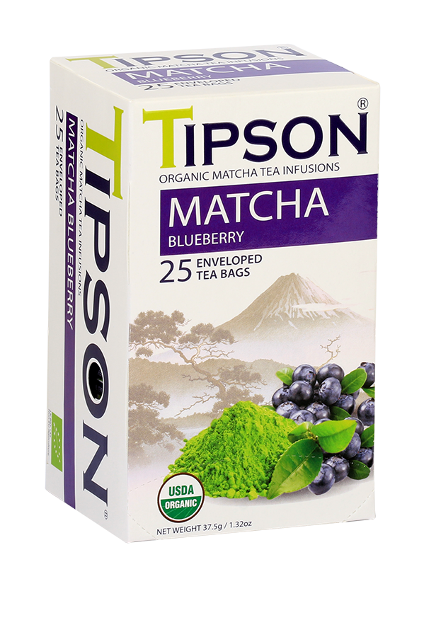 Tipson Organic Matcha Blueberry Tea