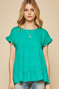 Emerald Babydoll Top
