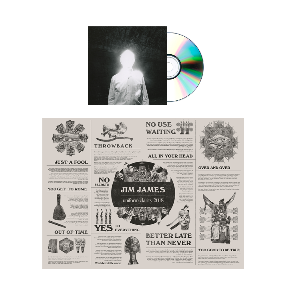 Jim James - Uniform Clarity CD + Poster Bundle