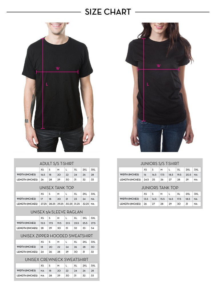 The Used Merchandise Size Chart