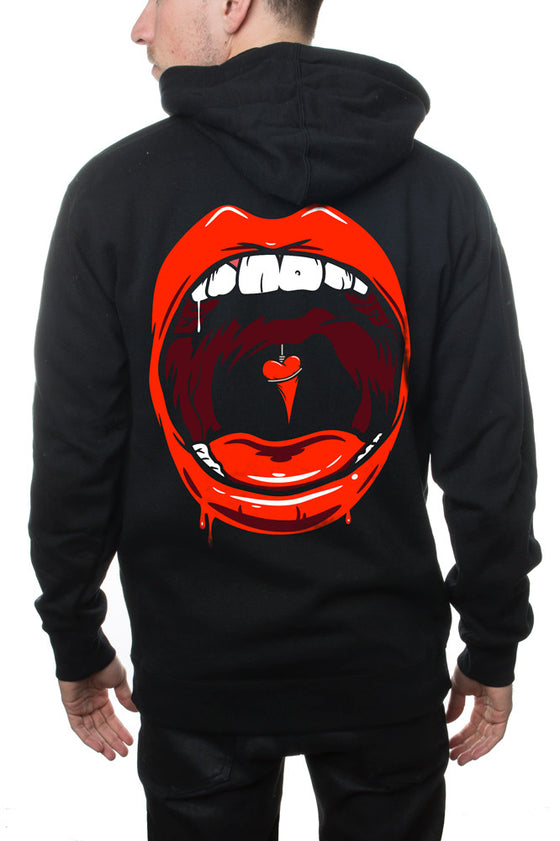 The Used Mouth Zip Hoodie Black