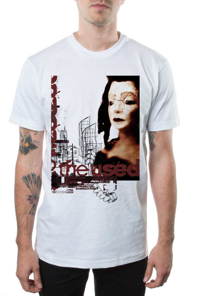 The Used Self-Titled Tee White