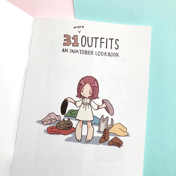 VOLUME 2: 31 more outfits inktober lookbook zine