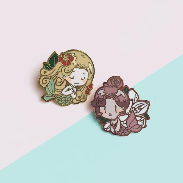 mermaid pin set