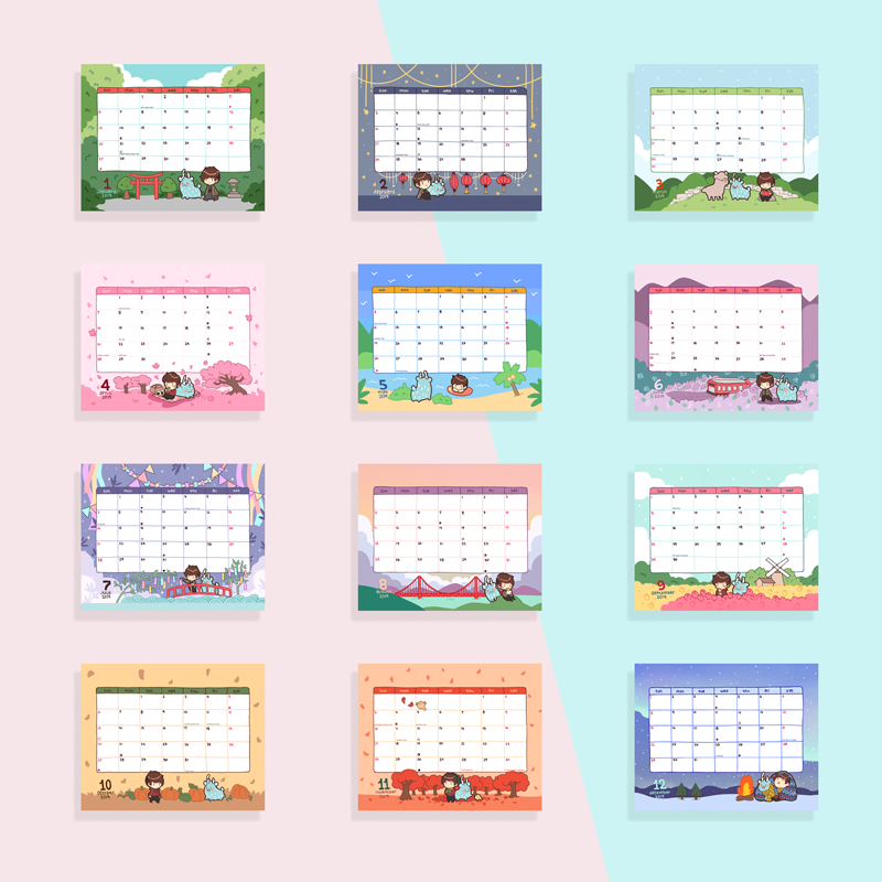 postcards from nowhere 2019 desk calendar
