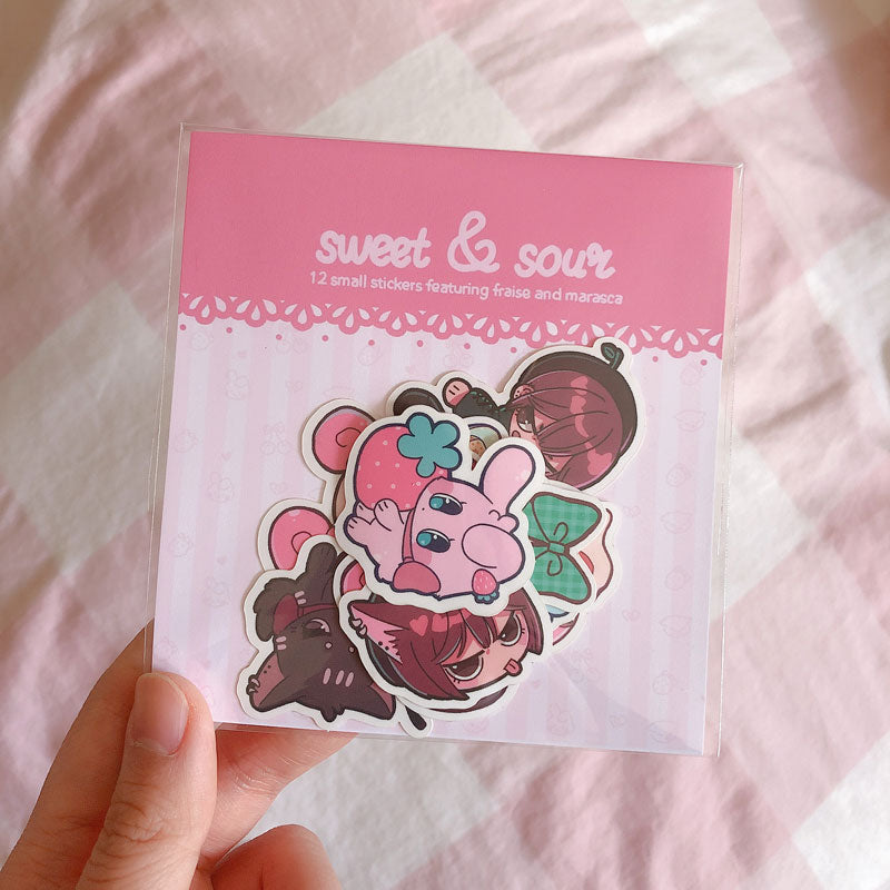 sweet and sour assorted sticker pack