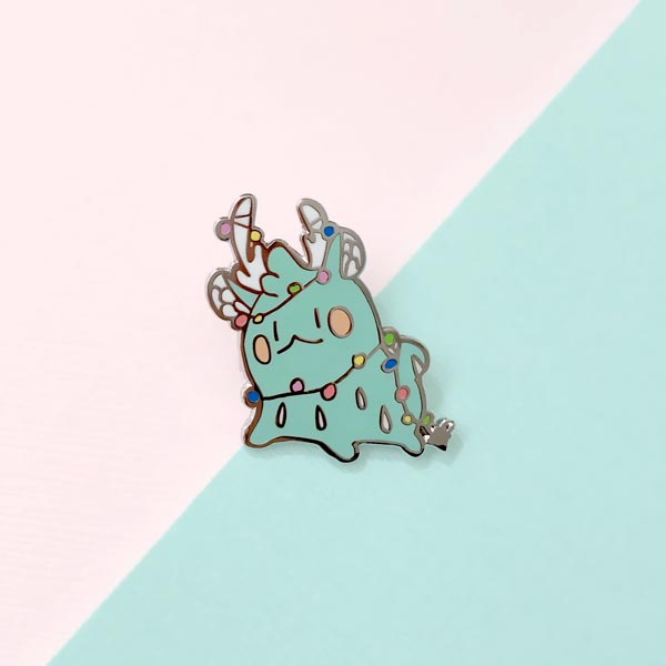 rainie lights enamel pin