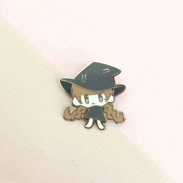 witch girl enamel pin