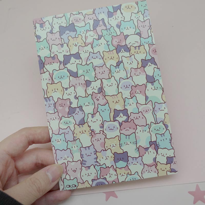 creamy cat mini print