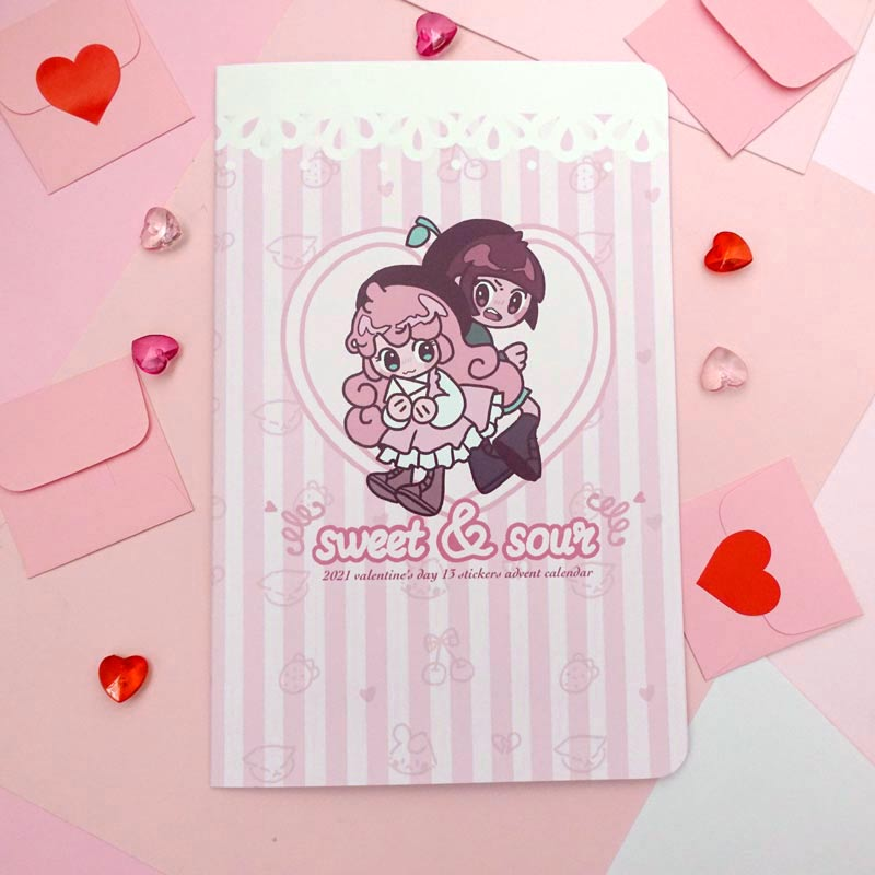 valentine gram sweet and sour sticker advent calendar