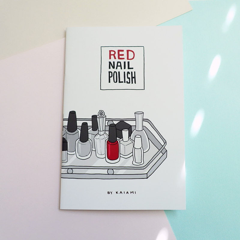 red nail polish comic diary zine
