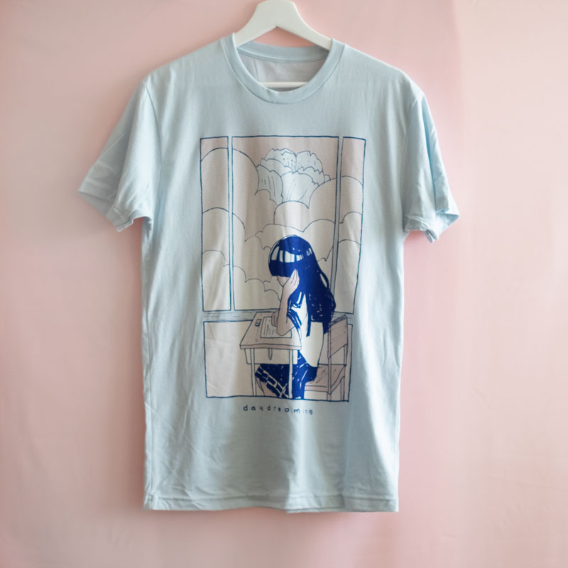 pastel blue daydreaming shirt