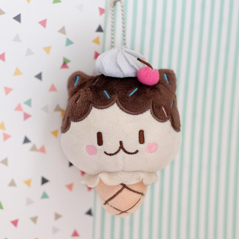 milky parlor fudge cat plush keychain