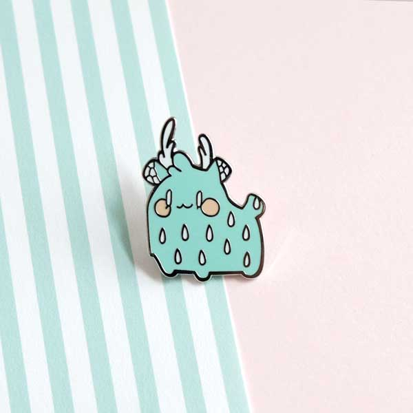 postcards from nowhere rainie enamel pin