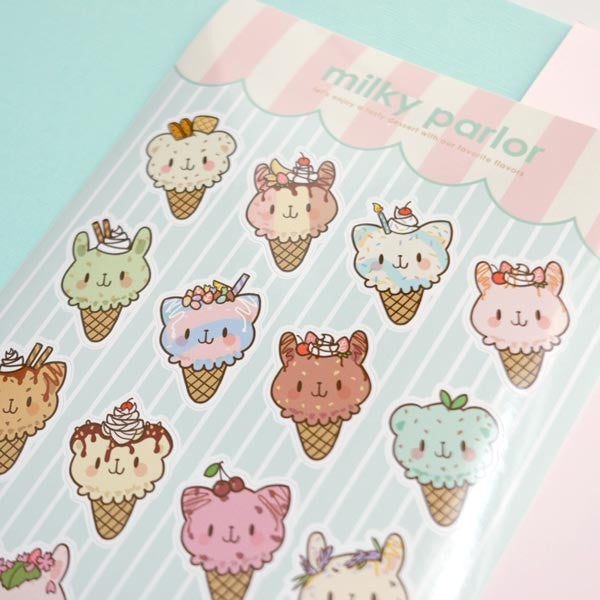 milky parlor sticker sheet