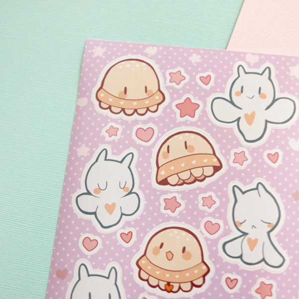 space friends sticker sheet