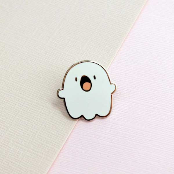 Ghostie the Ghost Enamel Pin