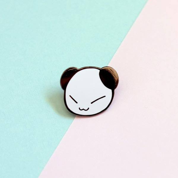 connor the panda enamel pin