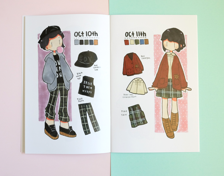 31 outfits inktober lookbook zine