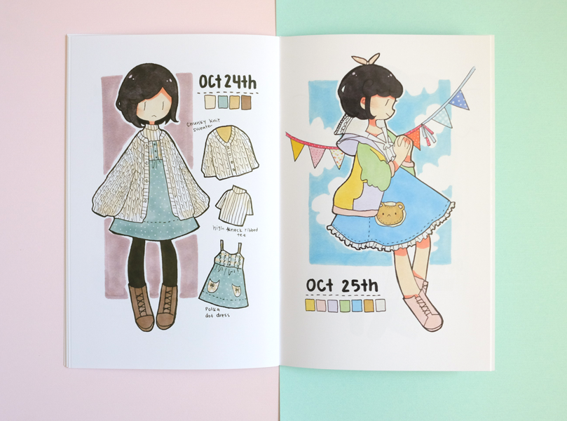 VOLUME 1: 31 outfits inktober lookbook zine
