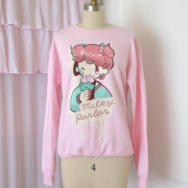 pink milky girl sweater