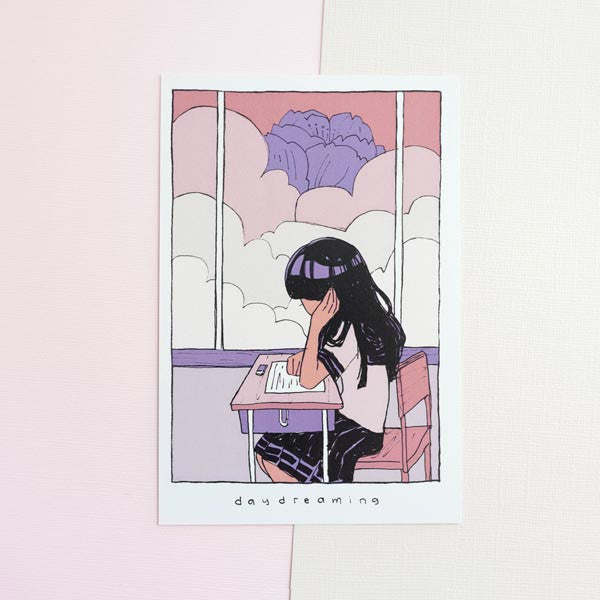 daydreaming mini print