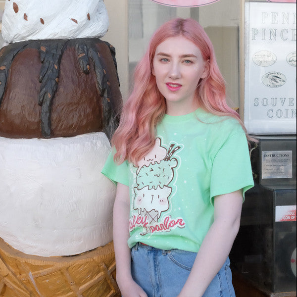 mint milky cone shirt