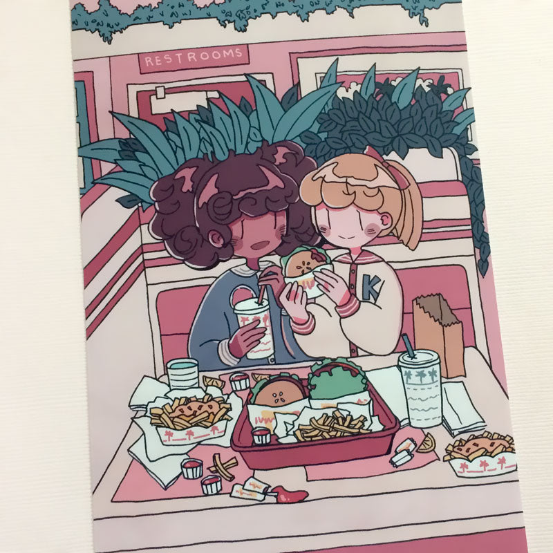 burger girls mini print