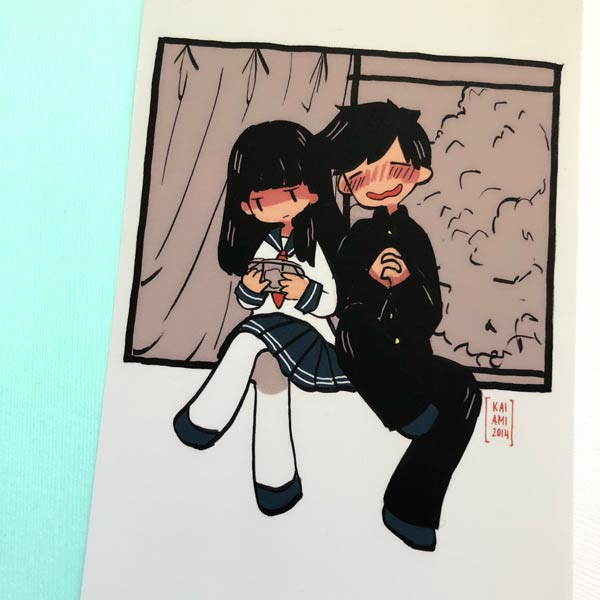 2d love story window mini print