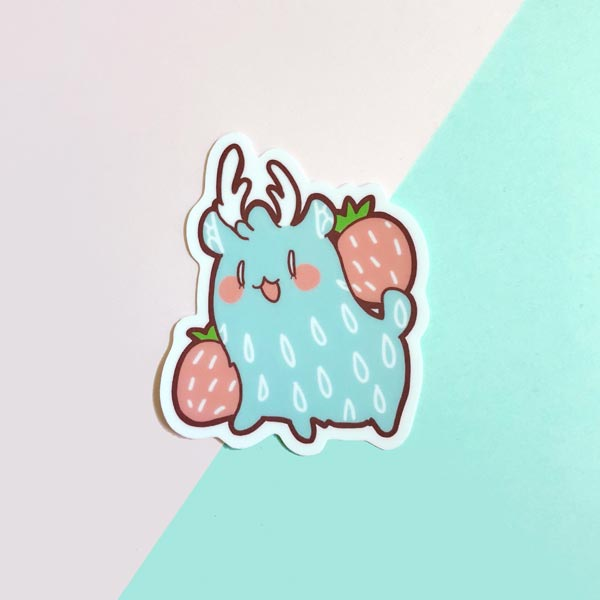 rainie strawberry vinyl sticker