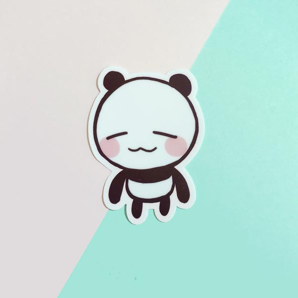connor the panda vinyl sticker