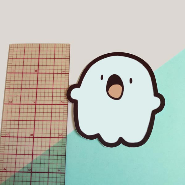 ghostie the ghost vinyl sticker