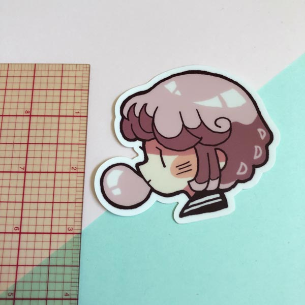 bubblegum kaia logo big vinyl sticker