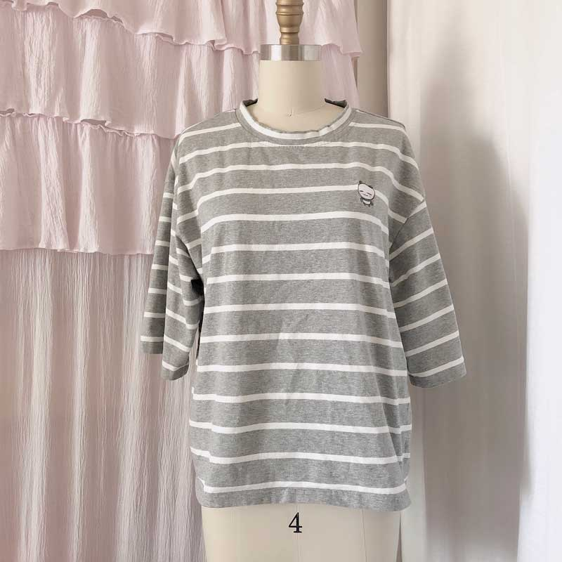 boxy grey stripe connor shirt