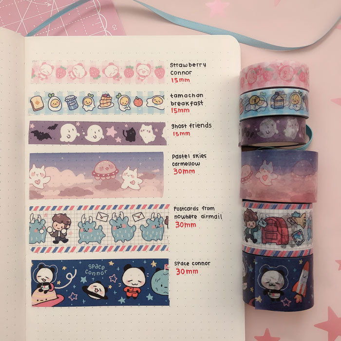 pastel skies 30mm washi tape