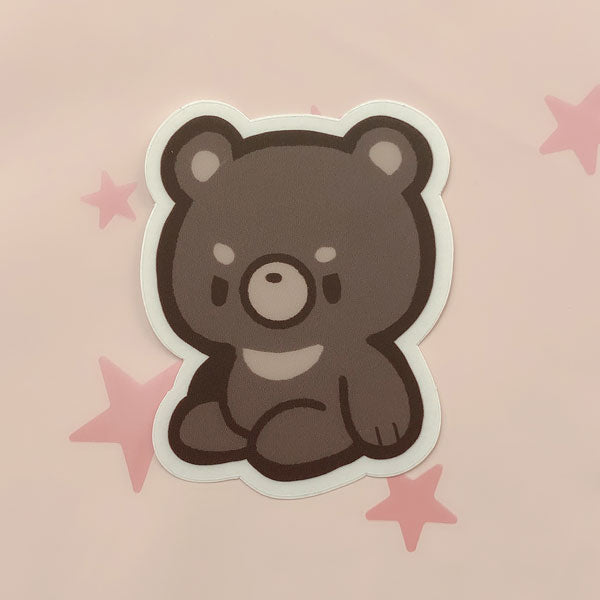 formosan black bear clear sticker
