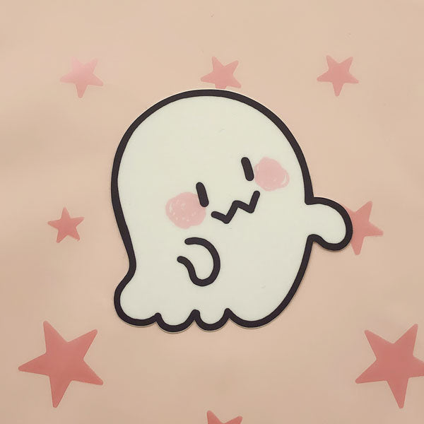 friendly ghost vinyl sticker